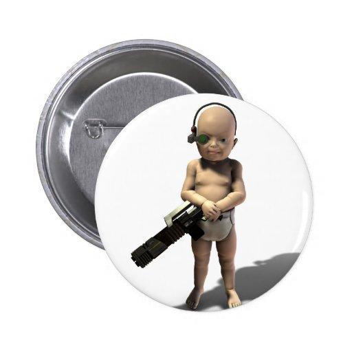 Ensuciado niño pin redondo 5 cm