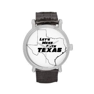 Ensuciemos con el blanco de Tejas Reloj