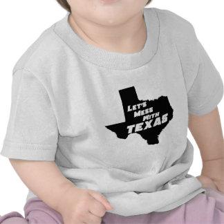 Ensuciemos con el negro de Tejas Camisetas