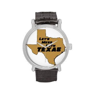 Ensuciemos con Tejas Brown Reloj De Mano