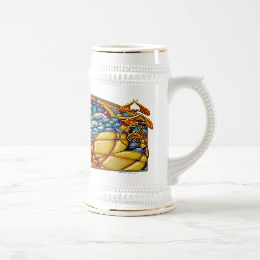 Ensueño de la libélula - cerveza Stein Jarra De Cerveza