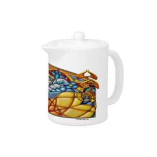 Ensueño de la libélula - tetera de la porcelana