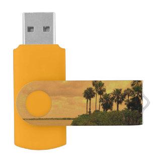 Ensueño de la palmera pen drive giratorio USB 2.0