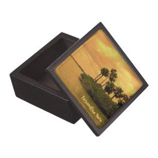 Ensueño de la palmera personalizado cajas de joyas de calidad