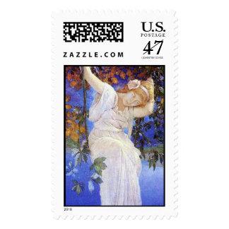 Ensueños, sello de Maxfield Parrish Timbres Postales