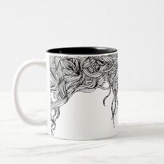 Entangle Hair Two-Tone Coffee Mug