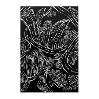 Entangled City Canvas Acrylic Print