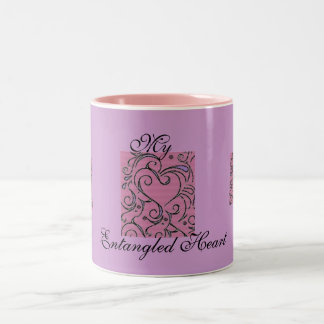 Entangled Heart Two-Tone Coffee Mug