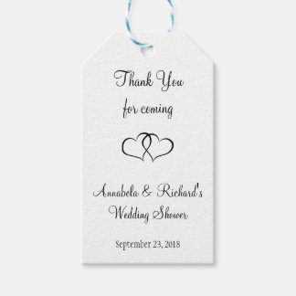 Entangled Hearts Wedding Shower Gift Tags