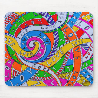 entangled love mouse pad