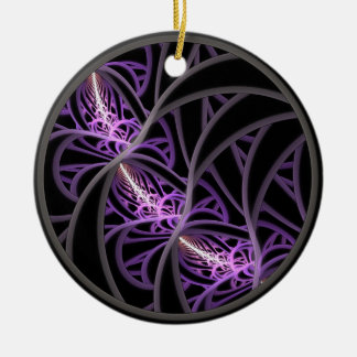 Entangled Double-Sided Ceramic Round Christmas Ornament