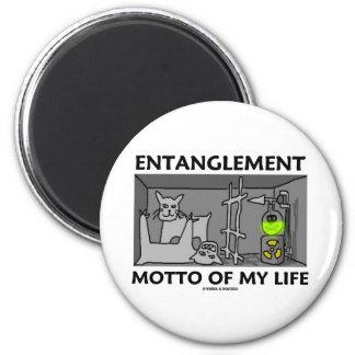 Entanglement Motto Of My Life (Quantum Physics) Refrigerator Magnets