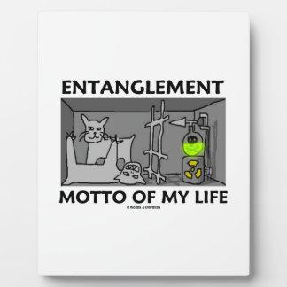 Entanglement Motto Of My Life (Quantum Physics) Photo Plaque