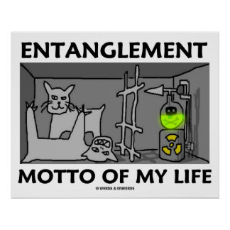 Entanglement Motto Of My Life (Quantum Physics) Poster