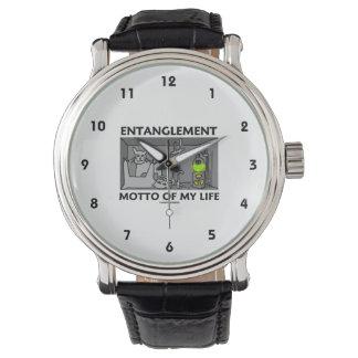 Entanglement Motto Of My Life (Quantum Physics) Wristwatch