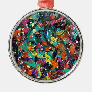 Entanglement Round Metal Christmas Ornament