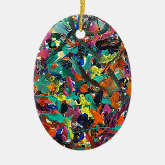 Entanglement Double-Sided Oval Ceramic Christmas Ornament
