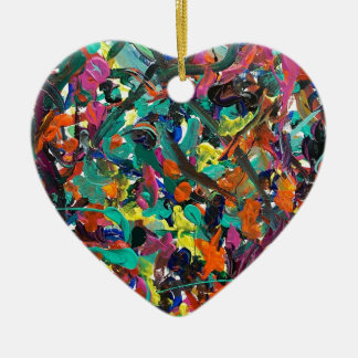 Entanglement Double-Sided Heart Ceramic Christmas Ornament