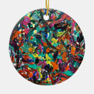 Entanglement Double-Sided Ceramic Round Christmas Ornament