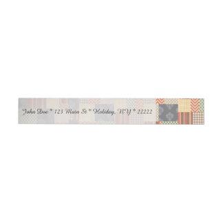 Entarimado del remiendo etiquetas postales