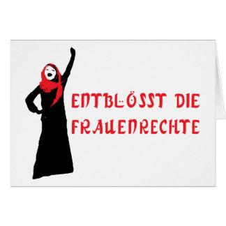 Entblösst die Frauenrechte! Card