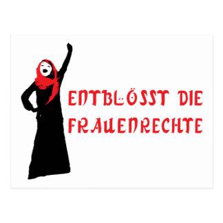 Entblösst die Frauenrechte! Postcard