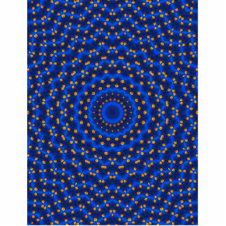 Ente auf Blau Kaleidoscope Small Cutout
