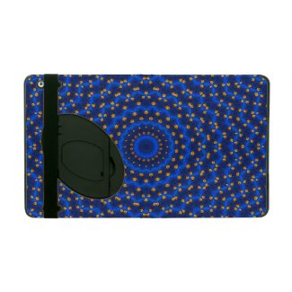 Ente auf Blau Kaleidoscope Small iPad Case