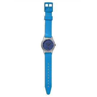 Ente auf Blau Kaleidoscope Small Wristwatch