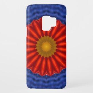Ente auf Blau mit Rot Kaleidoscope Case-Mate Samsung Galaxy S9 Case