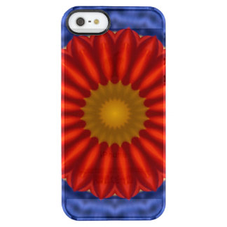 Ente auf Blau mit Rot Kaleidoscope Uncommon Clearly™ Deflector iPhone 5 Case