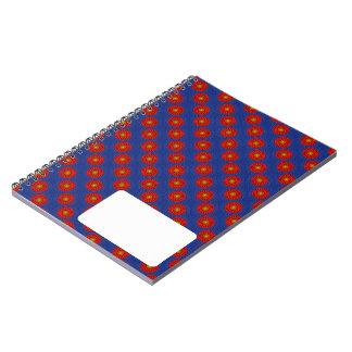 Ente auf Blau mit Rot Kaleidoscope Notebook
