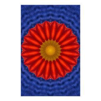 Ente auf Blau mit Rot Kaleidoscope Stationery