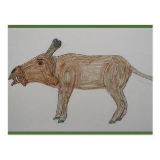 Entelodontidae are NOT extinct, Postcard
