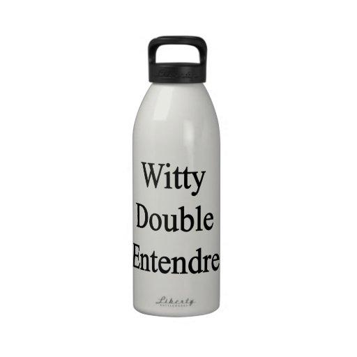 Entendre doble ingenioso botellas de agua reutilizables