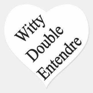 Entendre doble ingenioso pegatina en forma de corazón