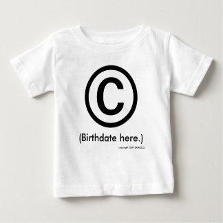 © enter birthdate t shirt