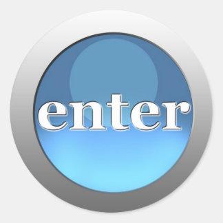 enter button classic round sticker