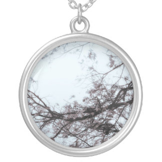 Enter Here (Blue Version) Silver Plated Necklace