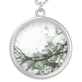 Enter Here (Green Version) Silver Plated Necklace