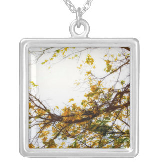 Enter Here Silver Plated Necklace