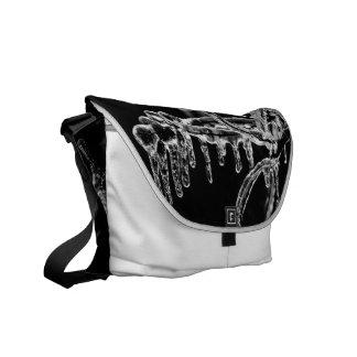 enter icy winter messenger bag