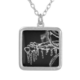 enter icy winter silver plated necklace