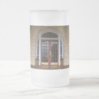 Enter If You Dare Frosted Glass Beer Mug