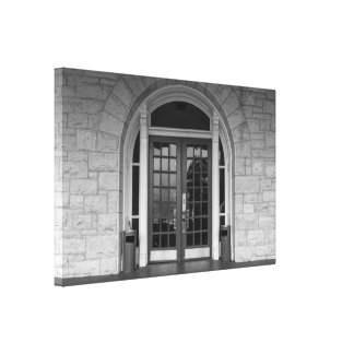 Enter If You Dare Grayscale Canvas Print