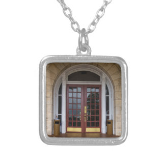 Enter If You Dare Silver Plated Necklace