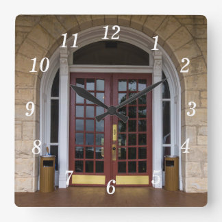 Enter If You Dare Square Wall Clock