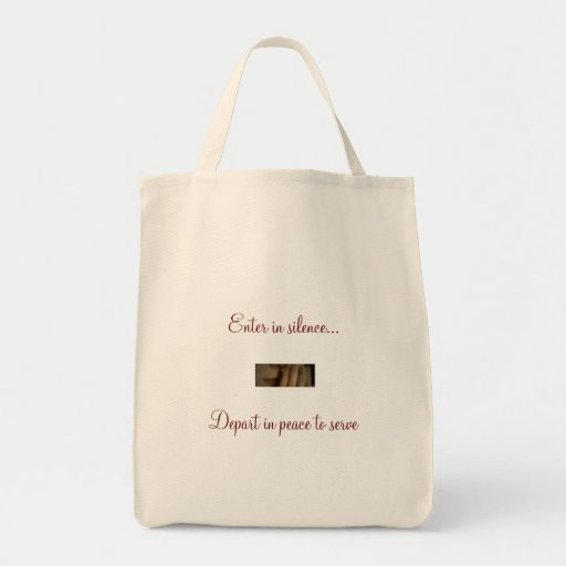 Enter in silence tote tote bag