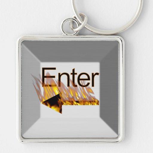 Enter Keyboard Key Key Chains