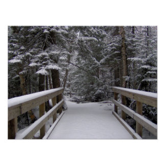 Enter - New Hampshire Snow Scene Poster